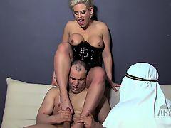 American Mistresses cuckolding Arab Slaves