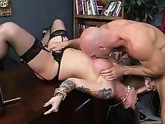 Big boobs tattooed Darling Danika facial