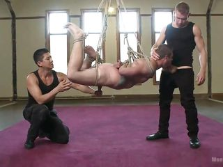 slave is fixed to the bed