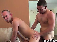 Stud rides cock bareback