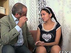 Ripened teacher pleasured by legal age teenager