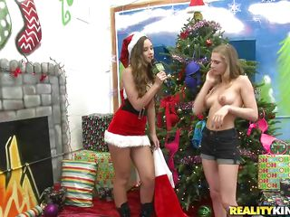 beautiful blonde on a christmas-cunt passage