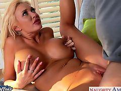 Platinum golden-haired Summer Brielle fuck her neighbor