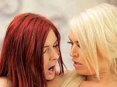 NubileFilms Lesbians in lust cum harder