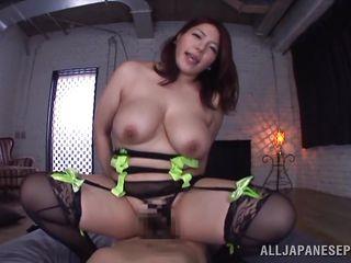 busty Japanese milf mizuki obtains fucked in pov