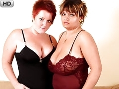 Dykey BBW Guides Her Voluptuous Girlfriend To Amazing Orgasm