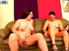 Venus And Victoria Experiment With Oral And Cock Shaped Dildo