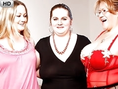 Three Chunky Lesbians Play With Each Others' Sloppy Vaginas