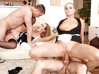 blonde harlots get fucked @ swinger's groupies #10