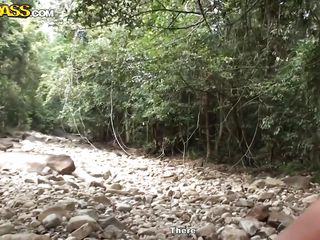 naughty cleopatra gets fucked in the woods