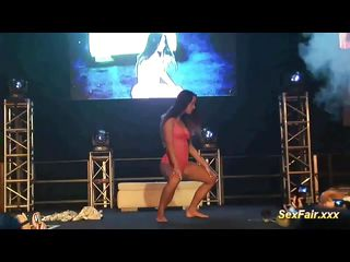 scandal show on public sexfair stage
