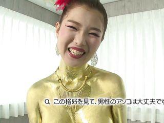gold japanese slut sucks dick