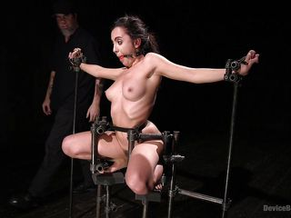 naughty, bound slave attains her hair pulled and her cage of love fingered