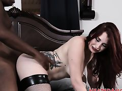 Emo slut adores big black dicks