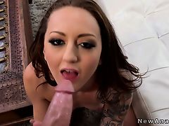 Tattooed gf begging for anal act of love