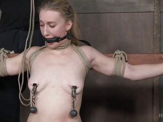 fairy-haired bottom nipples tortured whilst this chick squirts