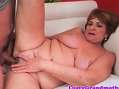 Busty european granny group-fucked passionately