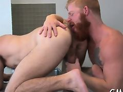 Meticulous anal moments with two homo males in heats