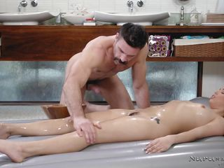 vanessa sky wants sex, so she starts stroking his cock