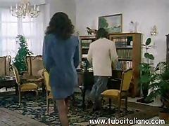Italian brunette is in for some office sex and blows and does anal