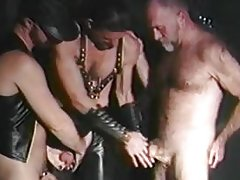 Mature leather bear party