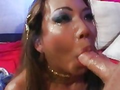 Kaylani Lei gets her mouth stuffed with hard cock