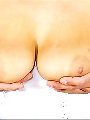 Ripe melons covered in cum