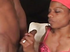 Handicapped ebony fucking hard