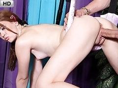 Cute Young Miranda Swings into Action