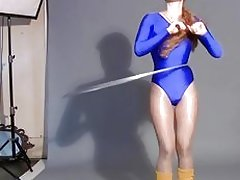 Hula hooping in skin tight leotard