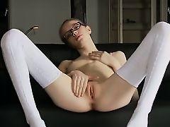18yo bony teacher posing naked