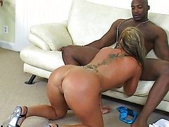 Loved sized MILF nailed by ebon guy